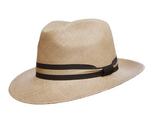 Camilo grade 3 bronze coloured Panama fedora from Grand Hatters