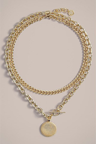 Witchery gold layered necklace