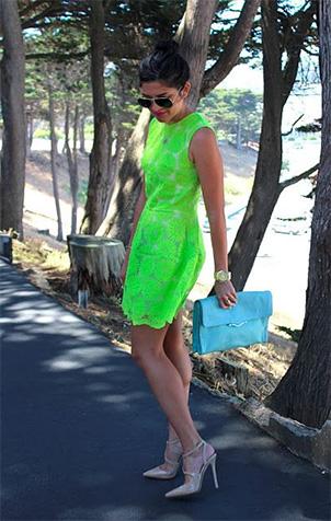 Robe vert menthe